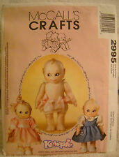 McCALLS CRAFTS JESCO KEWPIE DOLL DRESS PATTERN. NEVER USED UNCUT AND OOP