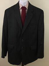 Men's Elegant Lauren Ralph Lauren Blue Pinstripe Blazer 42L 100% Wool 2 button