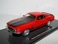 HIGHWAY 61 1969 FORD MUSTANG BOSS 302 CALYPSO CORAL RED 1/43 RESIN 43003