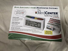 The Med Center 31 Day Pill Organizer With Talking Alarm Clock