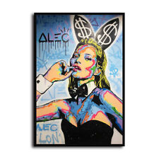 Alec Monopoly Kate Moss Bunny HD Canvas Print Home Decor Wall Art Pictures