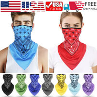 Outdoor Balaclava Head Face Neck Gaiter Bandana Tube Scarf Ear Loops Mouth Wrap