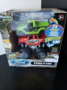 Ford F-150 Toy Truck Friction Powered Monster Maniacs Switch Em 2 Truck Bodies