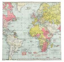 "mapa del mundo azul rosa verde 3 capas 20 servilletas papel 33cmx13"" – 33x33cm"