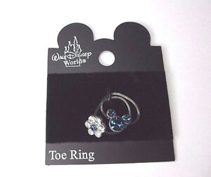 Official Disney Mickey Mouse Crystal Toe Rings - Sapphire Blue colour