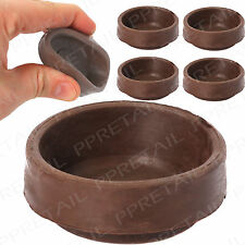 4 x Rubber Castor Cups + ANTI SCRATCH + Carpet/Wooden/Tile Floor Protector Small