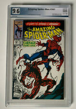 AMAZING SPIDER-MAN #361 | PGX 9.6 | 1st full appearance of Carnage  White pages