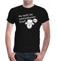 Herren Unisex Kurzarm T-Shirt Was macht das unentschlossene Schaf? sheep