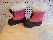 Girls toddler Tamarack winter boots - pink & black - size 8