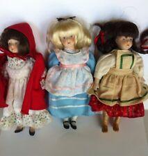 Vintage Gorham Storybook Dolls Alice in Wonderland Gretel Red Riding Hood Bisque