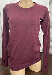 Lululemon Swiftly Tech Long Sleeve Crew Shirt Top Heathered Dashing Purple 8