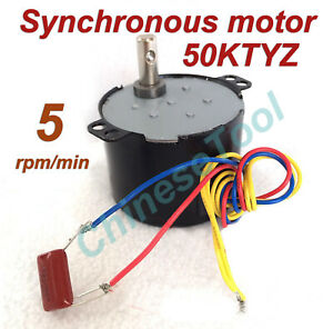 Synchronous Motor 50KTYZ AC 110V 120V 50/60Hz 50/60Hz 5r/m CW/CCW 6W 12kgf.cm
