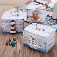 Mini Sea Wooden Pirate Treasure Jewellery Storage Chest Craft Box Case Organiser