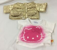 Build A Bear Hello Kitty Shirt And Gold Jacket Lot Clothes