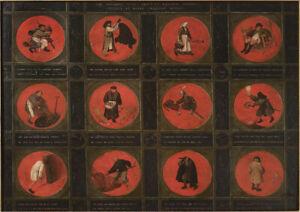 Twelve Proverbs by Pieter Bruegel the Elder. Fine Art Print/Poster