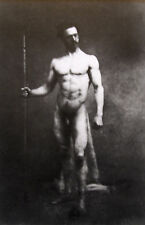 """Nude male mounted vintage photo repro print, 10 x 8"""", gay interest NP07"""