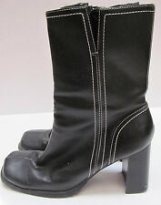Womens Black Predictions Zippered Mid-Calf High Boots #35504 Size 6.5