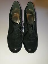 Topshop heels shoes - black, round toe, 4, 37, leather