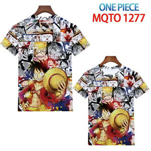 Women Men's Tops Anime ONE PIECE Luffy Short sleeve T-shirts Unisex clothes Tee