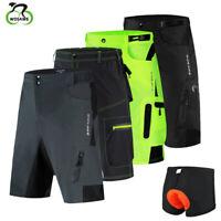 Pantalones de ciclismo holgados Hombres Pantalones de ciclismo de MTB acolchados