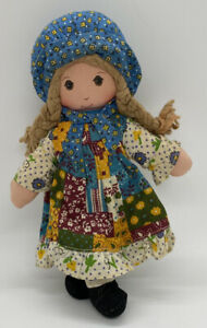 Vintage 1974 Knickerbocker Oringinal Holly Hobbie Plush Doll 9""