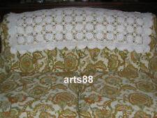 """CROCHET Sofa Slip Cover 19"""" x  42"""" WHITE"""