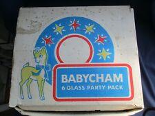 More details for babycham 6 glass party pack set of 6 vintage cocktail glasses  in original box