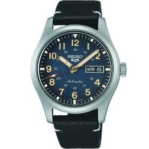 SEIKO SRPG39K1 Seiko 5 Automatic Field Watch Leather Strap Authorised Stockist