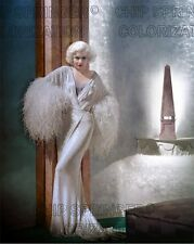 JEAN HARLOW IN DINNER AT 8 (BLUE ROOM) BEAUTIFUL COLOR PHOTO BY CHIP SPRINGER