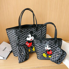2Pcs Disney Mickey Mouse Tote Shoulder Bag+Mini Cosmetic Women Bag FREE SHIPPING