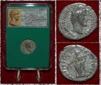 Ancient Roman Empire Coin ANTONINUS PIUS Victory On Reverse Silver Denarius