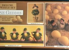 Vintage Anne Geddes  Puzzle Set 3 in one 1997 Chicks 1000+ Pieces Total colorful