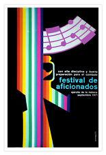 Cuban movie Poster for film ARMY music Festival.Rainbow.Gay musical gun art.