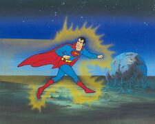 SUPERMAN PRODUCTION CEL - CHALLENGE OF THE SUPERFRIENDS, 1978 - HANNA-BARBERA!!!