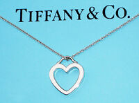 Tiffany & Co Sterling Silver Heart Link Pendant Necklace