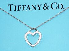 Tiffany & Co Argento Sterling Cuore Collana Con Ciondolo a forma di collegamento