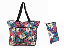 Reusable Grocery Bags , Tote Foldable into Attached Pouch, Polyester Reusable