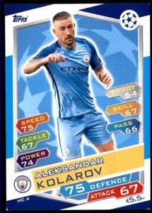 Match Attax Champions League 16/17 Aleksandar Kolarov Manchester City No. MC4