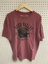 Vintage Deer Valley Red Graphic T-shirt Single Stitch Size L