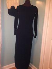 New $158 Anthropologie Sparrow Black Sweater Maxi Dress XS