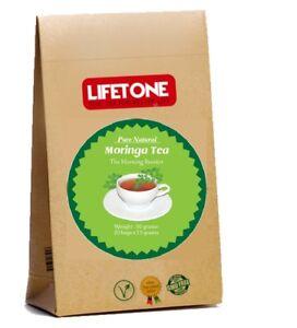 Organic certified Moringa Tea Morning Booster Antioxidant 20 Teabags