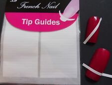 10pc Nail Art French Manicure Guide Straight Tips Stencil Acrylic Gel Stickers