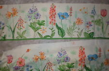 """WAVERLY FLORAL FABRIC REMNANT 16"""" X 18' UNFINISHED VINTAGE SOLD AS IS"""
