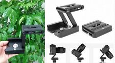 Aluminum Folding Camera Z Desktop Stand Holder Tripod Pan & Tilt Head