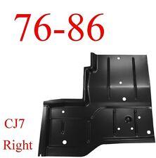 76 86 Jeep CJ7 Right Rear Floor Pan, 0480-228