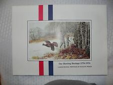 Remington Arms Co. Portfolio - Our Hunting Heritage 1776 to 1976 - 4 prints
