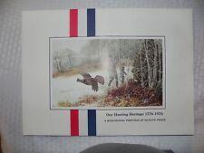 Remington Arms Co. Portfolio - Our Hunting Heritage 1776 to 1976 - 4 prints