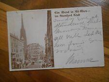 Antique 1907 Postcard Ein Abend in Alt Wien im Standard Klub Old Vienna Austria