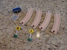 Wooden Train Table Track and Accessories GUC