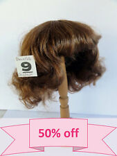 "DISCOUNT -50% Human Hair DOLL WIG size 12.6 "" (32 cm). Short red-brown  hair."